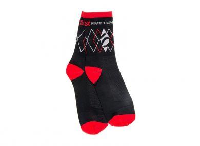 ElementStore - ponozky-black-red-533