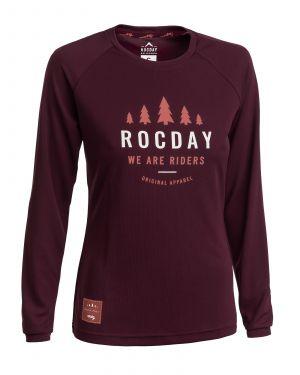 Dámský dres na kolo Rocday Patrol WMS Burgundy