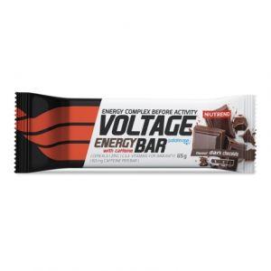 Energetická tyčinka Nutrend Voltage With Caffeine 65g - Hořká čokoláda