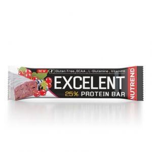 Proteinová tyčinka Nutrend Excellent 85g - Černý rybíz s brusinkami v jogurtové Polevě
