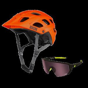iXS helma Trail EVO + brýle Melon