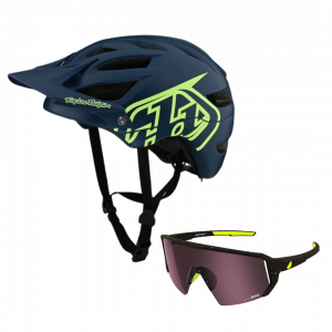TLD helma A1 Drone + brýle Melon